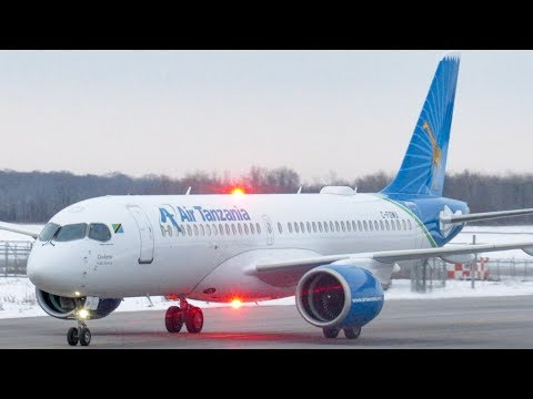 Air Tanzania's FIRST Airbus A220-300 (BCS3) in action in Mon