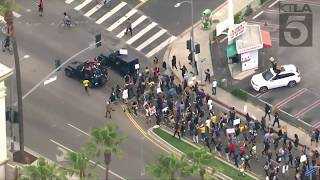 Protests continue in Los Angeles more than a week after George Floyd's death