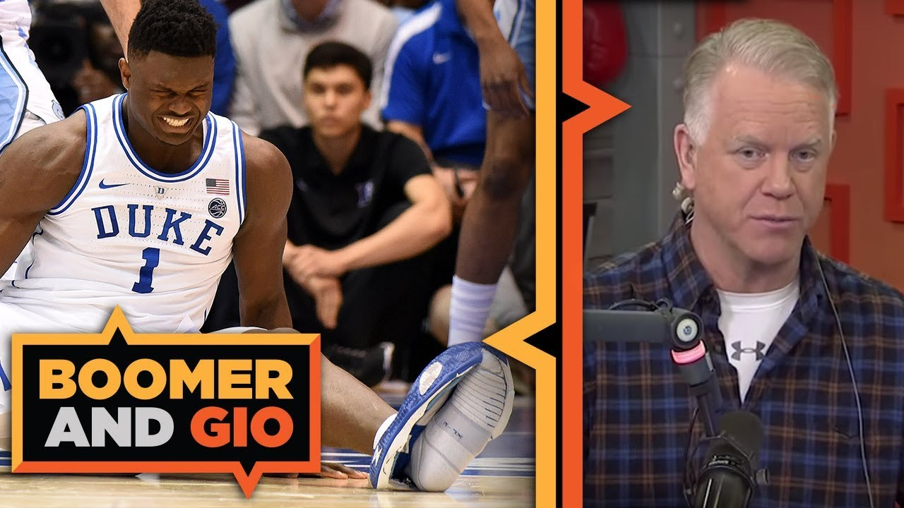 Zion DESTROYED his shoe | Boomer and Gio