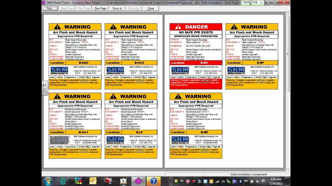 Power System Analysis Arc Flash & OCPD Coordination 12 06 12