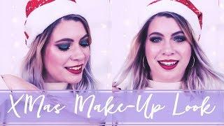 Weihnachts-MakeUp Look mit Glass Skin Routine + Verlosung | #VioletXMas 💜