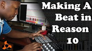 Making A Trap Beat with Reason 10 | With MPD32 and Midi-Controller