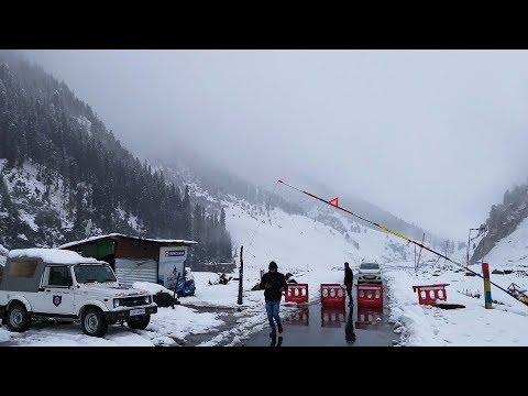 Snowfall across Kashmir
