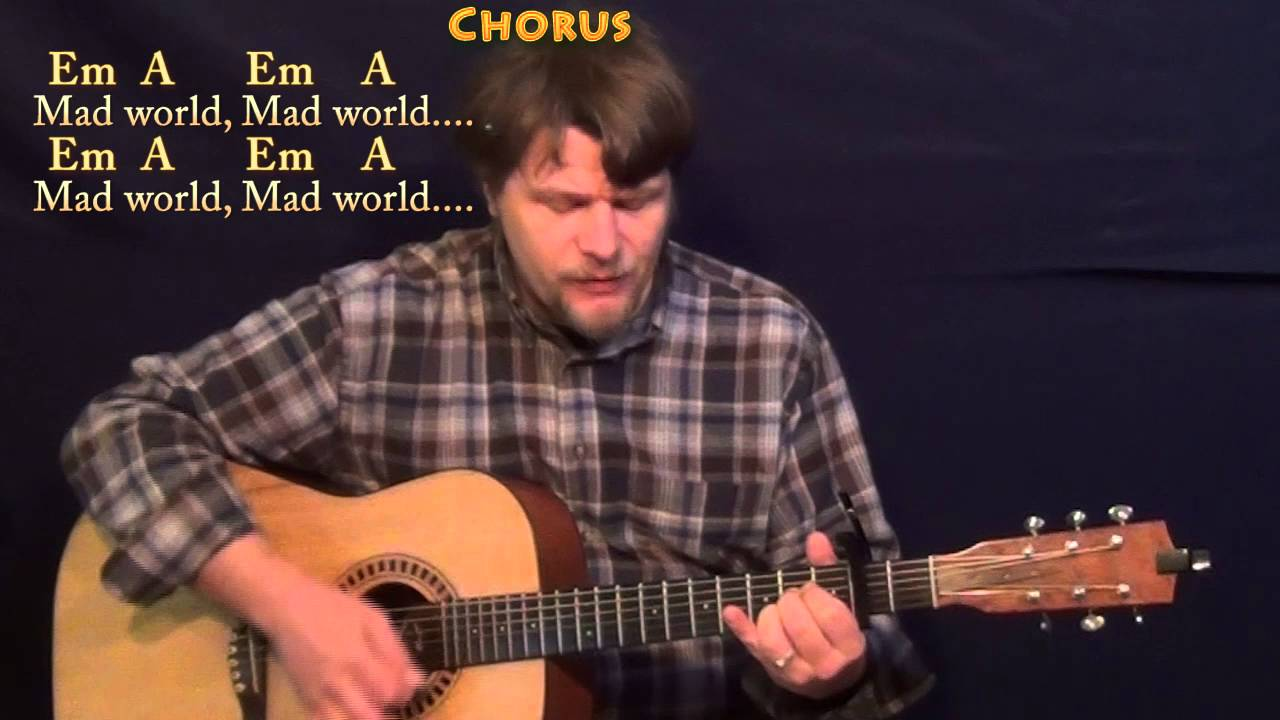 Mad World Tears For Fears Strum Guitar Cover Lesson With Chords