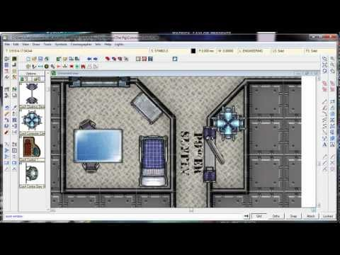 High Space Battlemaps Tutorial 2: Mapping the Command Deck