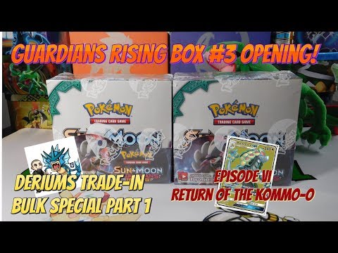 Pokemon Guardians Rising Box #3 OPENING! (Deriums Bulk Trade In Special Part 1!)