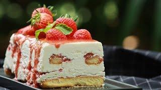 ไวท์ช็อกโกแลตสตรอว์เบอร์รี่ชีสเค้ก White Chocolate Strawberry Cheesecake : พลพรรคนักปรุง