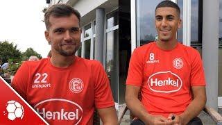 Fortuna Düsseldorf im Trainingslager: Neuzugänge Kevin Stöger und Aymen Barkok im Interview