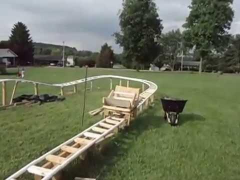 Backyard Roller Coaster Close Up - YouTube