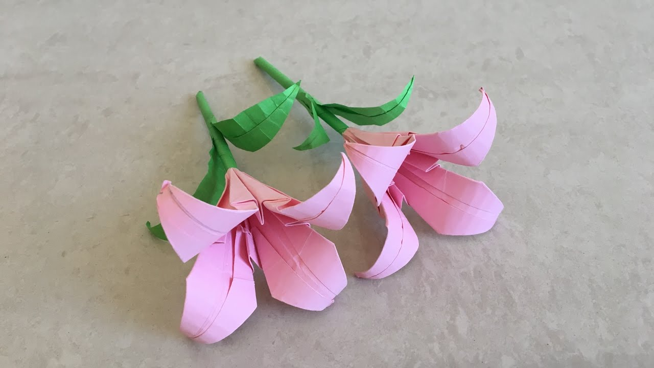 Handprint Lilies | How to Make an Easy Paper Lily | 720x1280