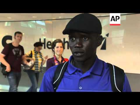 South Sudan refugee, running without a country arrives for Olympics