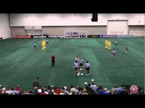 "Tom Sermanni's session, ""Receiving, Support Positions and Combination Play"""