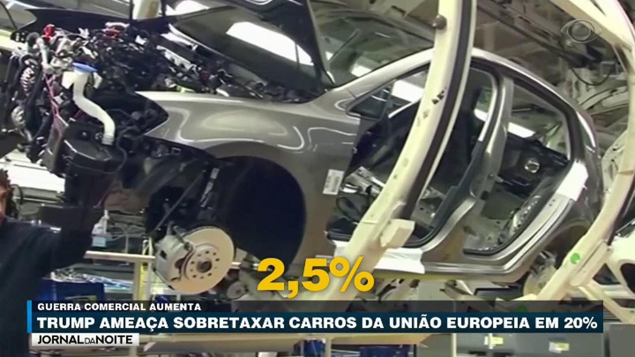 Trump ameaça sobretaxar carros importados da UE