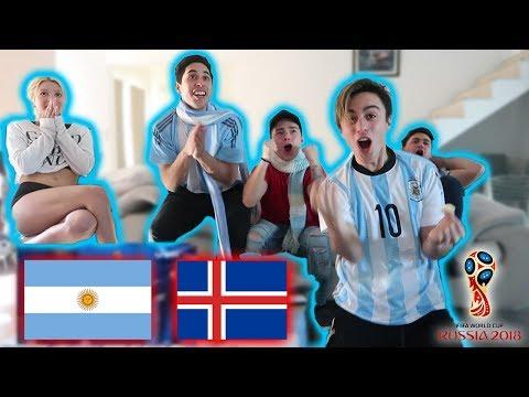 ARGENTINA VS ISLANDIA MUNDIAL RUSIA 2018 *reaccion*