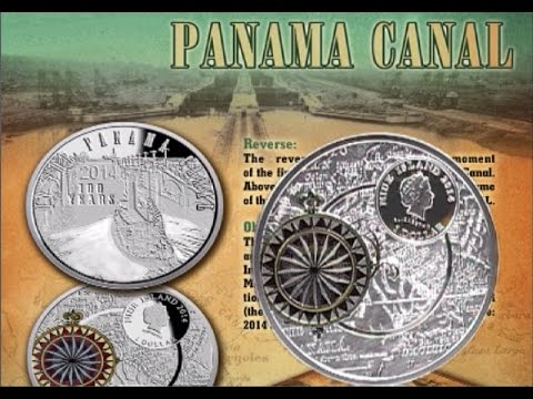 1 Dollar Silver Coin Quot Panama Canal Quot 1 Oz 999 Silver