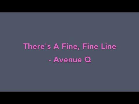 There's A Fine, Fine Line - Avenue Q (Piano Cover)