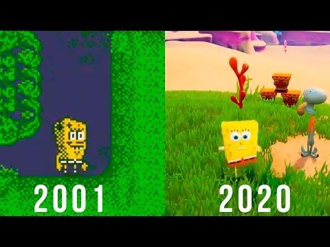 Эволюция игр о Губке Бобе   2001 - 2020
