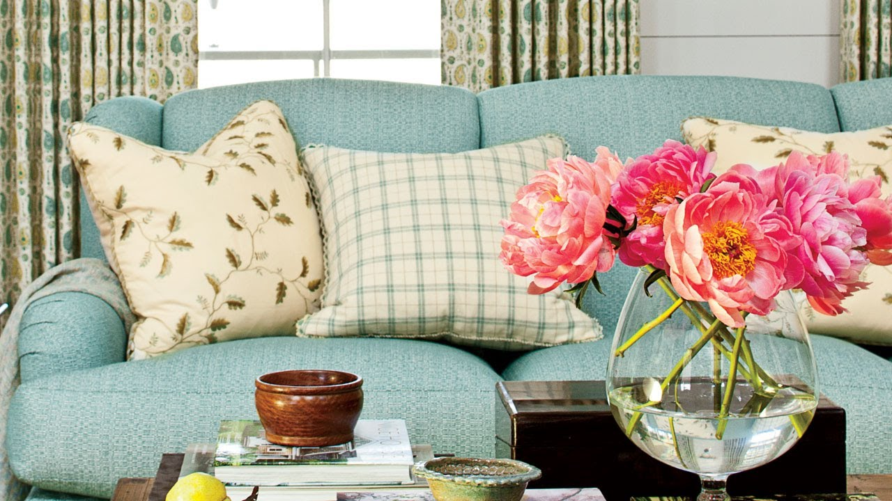 How To Choose A Couch how to choose the right pillows for a sofa | southern living - youtube