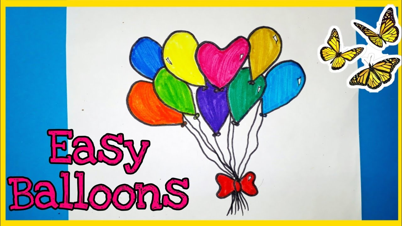 How to make easy balloons🎀 || step by step || simple ...