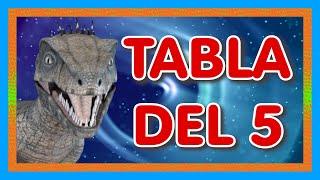 Tabla del 5 🦖 Velociraptor 🦖 Tabla De Multiplicar Del...