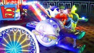 ПАРК АТТРАКЦИОНОВ Видео для детей СУПЕР МАШИНКИ для мальчиков Детские самолеты Карусели VLOG В АНАПЕ