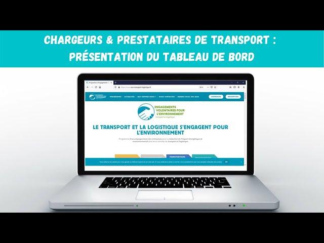 Chargeurs & prestataires de transport : présentation du tableau de bord