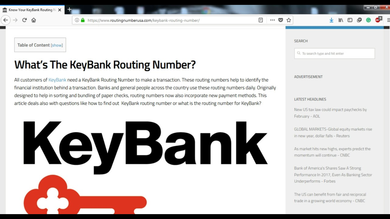 How to Find KeyBank Routing Number? - YouTube
