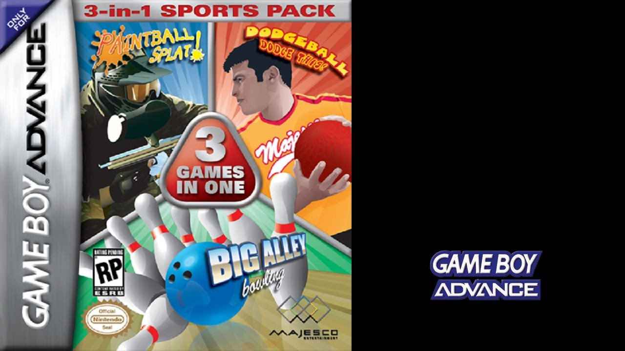 3 in 1 sports pack paintball dodgeball bowling game boy
