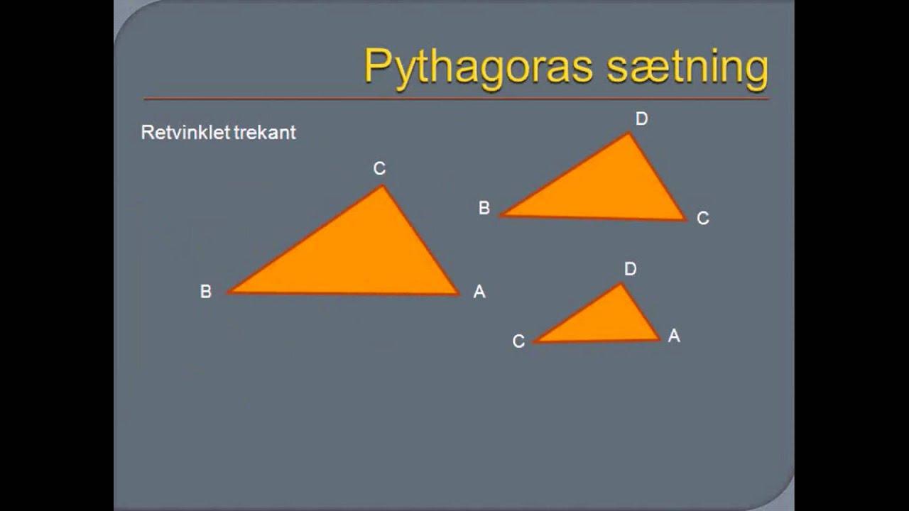 Pythagoras sætning: et bevis