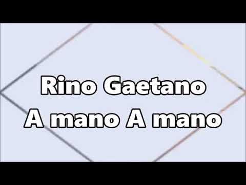 A Mano A Mano Rino Gaetano Testo Youtube