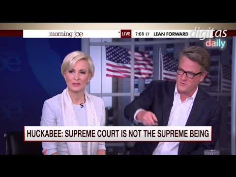 Morning Joe Discusses The Supreme Court: Halperin Defends Huckabee