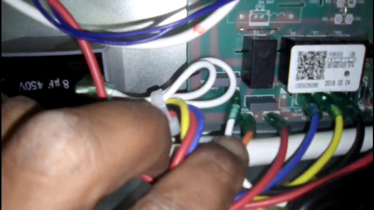 three phase 4 ton air conditioner indoor pcb connections in urdu hindi muhammad naeem [ 1280 x 720 Pixel ]