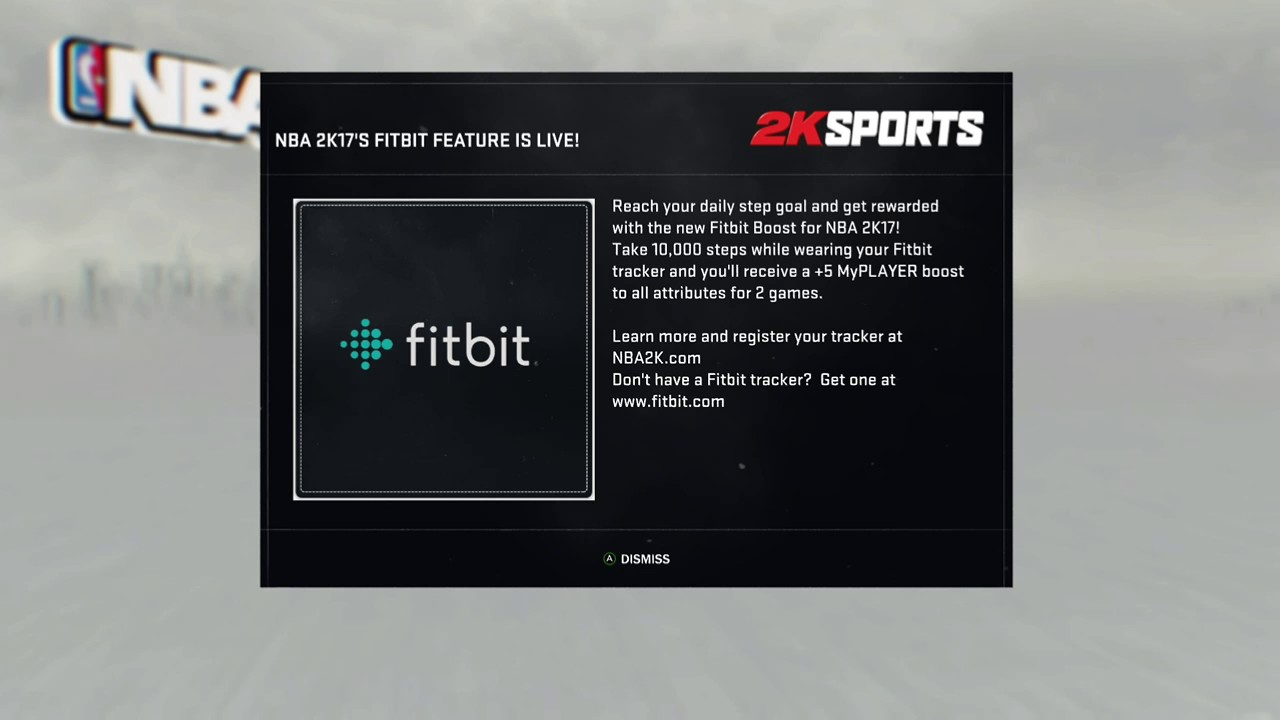 FIT BIT IN NBA 2K17