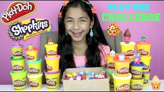 Shopkins Play Doh Challenge | Shopkins Made out of Play-Doh |Tuesday Play-Doh  |B2cutecupcakes