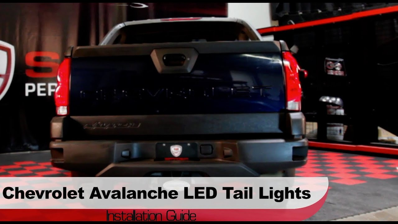 spyder auto installation 2002 2006 chevrolet avalanche led tail lights youtube [ 2344 x 1285 Pixel ]
