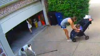 3-Year-Old Takes a Ride on Garage Door When Mom Turns Her Back