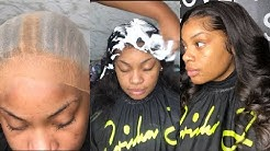 Frontal Sew-in | What lace? Let's create a scalp feat. Ericka J.
