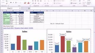 Excel Magic Trick 804: Chart Double Horizontal Axis Labels & VLOOKUP to Assign Sales Category