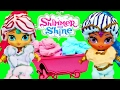 Shimmer & Shine MAKEOVER New Dolls Mr Bubble Foam Glitter Dress Up Hair Styles Tutorial Nickelodeon