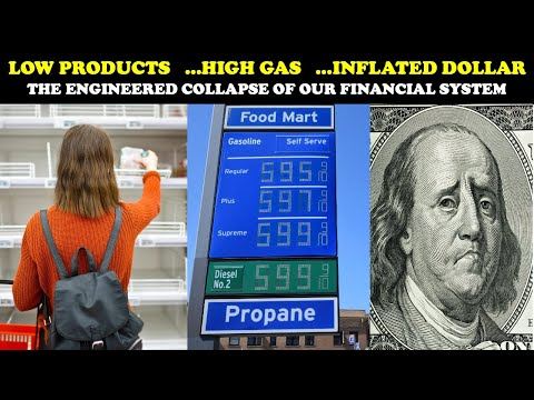 LOW PRODUCTS ...HIGH GAS ...INFLATED DOLLAR: THE ENGINEERED COLLAPSE OF OUR FINANCIAL SYSTEM
