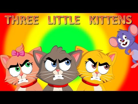 Thumbnail: Three Little Kittens | Children Songs with Lyrics | Lost Their Mittens Nursery Rhyme