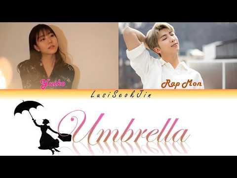 BTS RM & Yuiko - Umbrella (우산) (Color Coded Lyrics Rom/Eng/Indo)