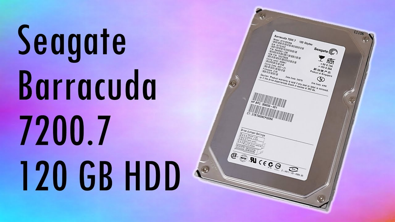 Seagate Barracuda 7200 7 120 GB IDE Hard Disk Drive Review