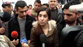 الإيزيدية نادية مراد تقنع اللاجئين بمغادرة إيدوميني
