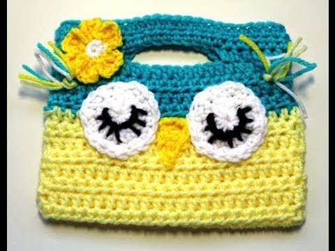 #Crochet Owl Childs Purse - Video 1 - YouTube