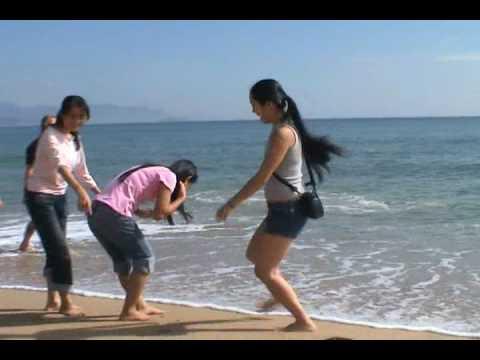 Girls at the beach Nha Trang VN