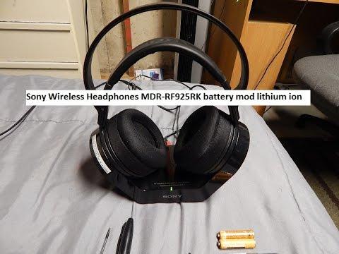 Sony Wireless Headphones Mdr Rf925rk Battery Mod Lithium Ion Youtube