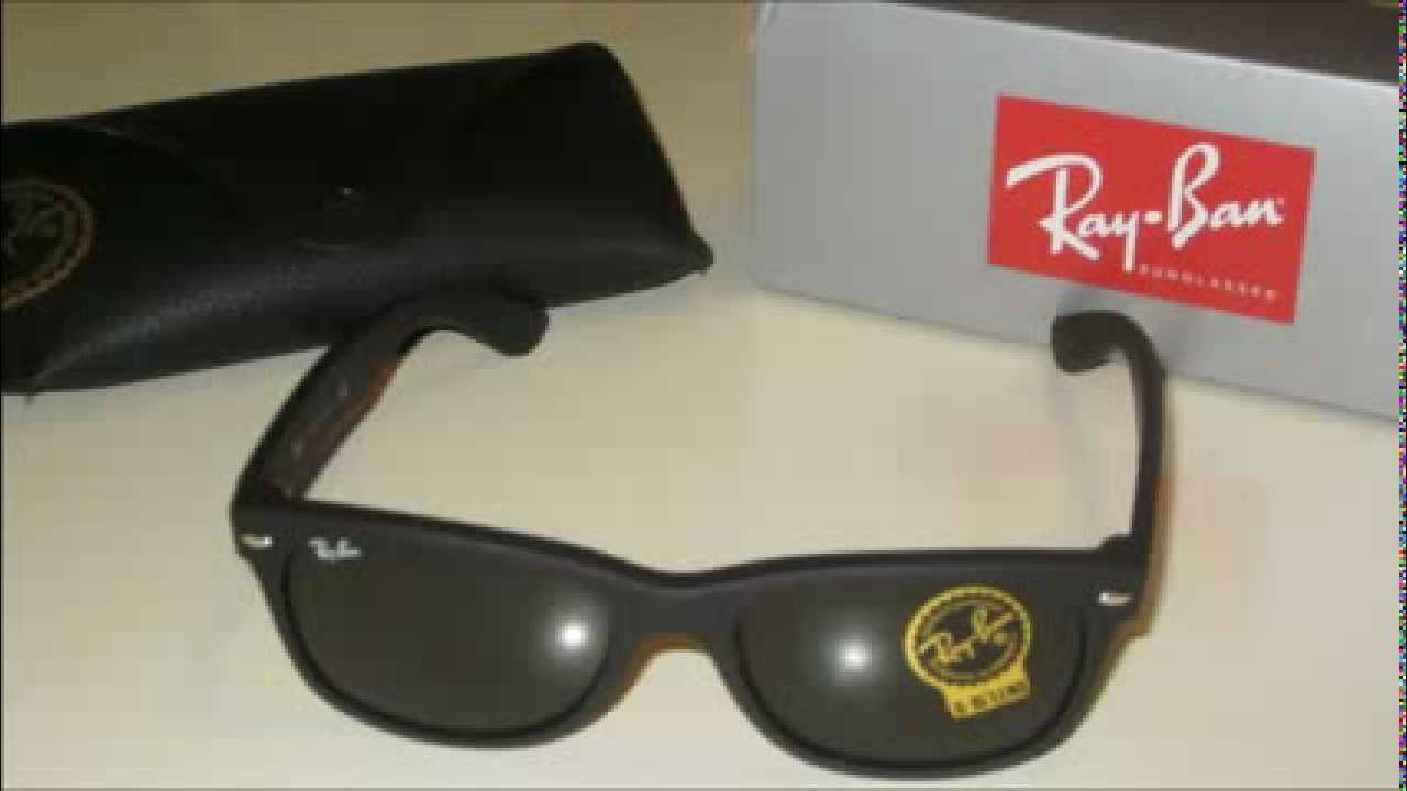 6b37d22db9d Ray Ban 2132 622 Rubber New Wayfarer Sunglasses - YouTube