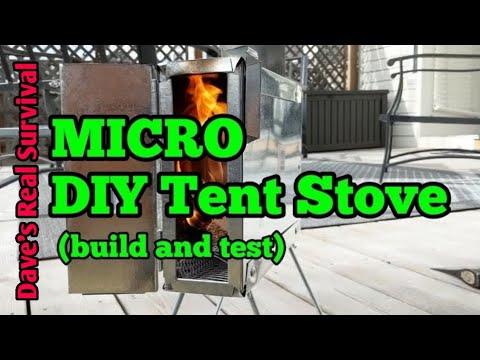 113. DIY MICRO Hot Tent Stove - Build / Test. $30.