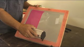 It's easy to burn an image into a silk screen